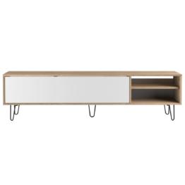 Mobile TV design legno e bianco LUMY