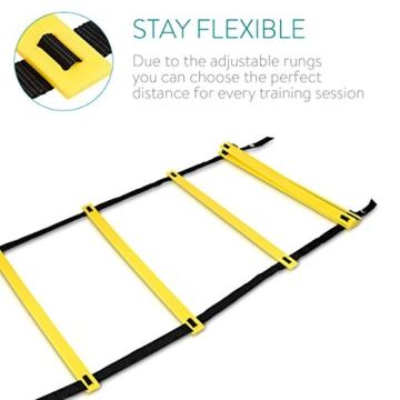 Navaris Scala per Allenamento Calcio 6m - scaletta per Fitness Training Speed Agility Ladder - Scala per Esercizi agilità e velocità con Borsa - 3