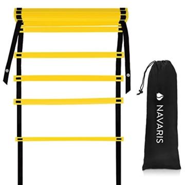 Navaris Scala per Allenamento Calcio 6m - scaletta per Fitness Training Speed Agility Ladder - Scala per Esercizi agilità e velocità con Borsa - 7