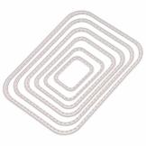 RIsxffp - Fustelle rettangolari per Cucito, per Scrapbooking, Carta e Stencil Argento - 1