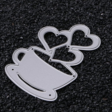 sayletre Taglio Muore, Tazza di caffè e Cuore Taglio Muore Metallo Goffratura Punch Stencil Modello per Scrapbooking Album di Foto di Carta di Carte di Arte Forniture Artigianali Home Decor - 7