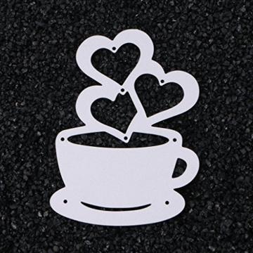 sayletre Taglio Muore, Tazza di caffè e Cuore Taglio Muore Metallo Goffratura Punch Stencil Modello per Scrapbooking Album di Foto di Carta di Carte di Arte Forniture Artigianali Home Decor - 4