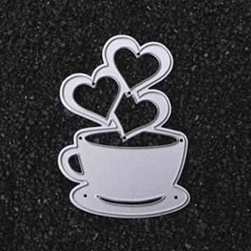 sayletre Taglio Muore, Tazza di caffè e Cuore Taglio Muore Metallo Goffratura Punch Stencil Modello per Scrapbooking Album di Foto di Carta di Carte di Arte Forniture Artigianali Home Decor - 5