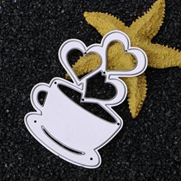 sayletre Taglio Muore, Tazza di caffè e Cuore Taglio Muore Metallo Goffratura Punch Stencil Modello per Scrapbooking Album di Foto di Carta di Carte di Arte Forniture Artigianali Home Decor - 8
