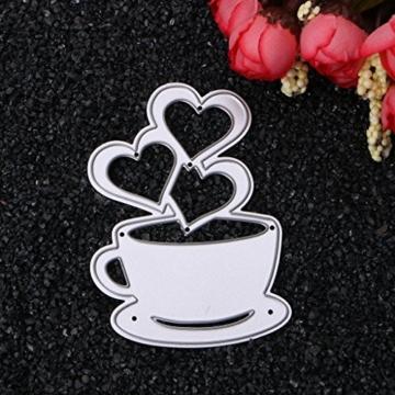 sayletre Taglio Muore, Tazza di caffè e Cuore Taglio Muore Metallo Goffratura Punch Stencil Modello per Scrapbooking Album di Foto di Carta di Carte di Arte Forniture Artigianali Home Decor - 2