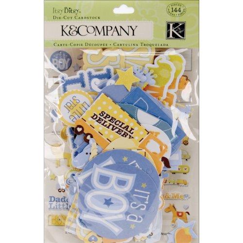 Sconosciuto K & Company cartoncini fustellati, Multicolore, 1.27x 12.06x 19.05cm - 1