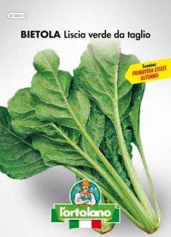 Sementi orticole di qualità l'ortolano in busta termosaldata (160 varietà) (BIETOLA DA COSTE LISCIA VERDE DA TAGLIO) - 1