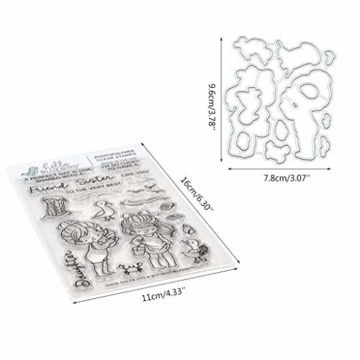 siwetg - Fustelle in Metallo per Fai da Te, Scrapbooking, Biglietti, goffratura - 9