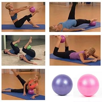 SMARTrich - Palla dimagrante per fitness, yoga, pilates, interni, 25 cm, blue, 1*1*1cm - 5
