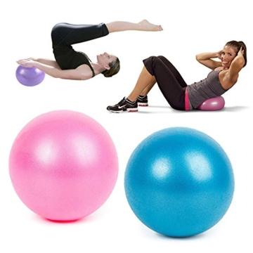SMARTrich - Palla dimagrante per fitness, yoga, pilates, interni, 25 cm, blue, 1*1*1cm - 6