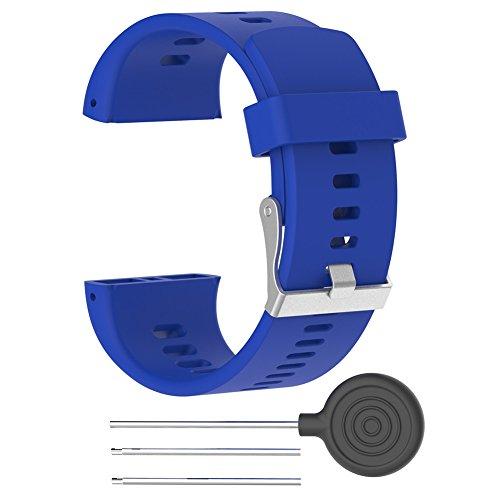 Soddisfazione fascia per Polar V800orologio regolabile in silicone sostituzione cinturino per orologio per Polar V800Smart orologio sportivo con attrezzi (no Watch), Blue - 1