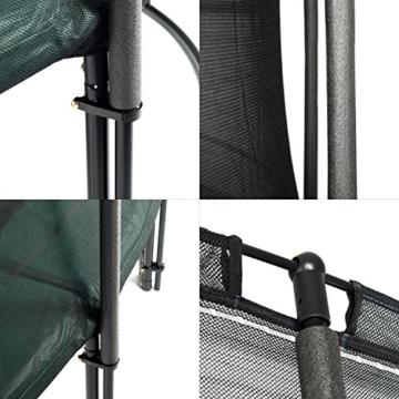 Ampel 24 - Tappeto Elastico Deluxe Completo con Rete di Sicurezza, Telo da Salto / 4,30m di Diametro/Resistente Fino a 160 kg / 12 Pali Imbottiti - 5