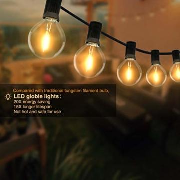 Catena Luminosa Esterno, Litogo 9,5m Luci da Esterno LED Catene Luminose per Esterni con 25+2 G40 Filo Lampadine Luminarie Lucine da Esterno Decorative per Giardino Natale Terrazza Matrimonio Partito - 6