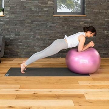 CORE BALANCE, Gym Ball, Palla da Palestra in Materiale Resistente - Esercizi Fitness Yoga Gravidanza - Anti Scoppio/Anti Scivolo - 55cm 65cm 75cm 85cm - Guida Esercizi Inclusa - 6