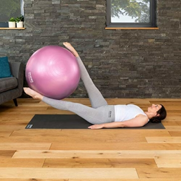 CORE BALANCE, Gym Ball, Palla da Palestra in Materiale Resistente - Esercizi Fitness Yoga Gravidanza - Anti Scoppio/Anti Scivolo - 55cm 65cm 75cm 85cm - Guida Esercizi Inclusa - 7