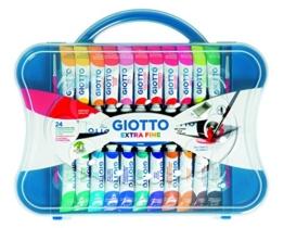 Giotto valigetta con 24 tubetti 12ml tempera extrafine + 2 pennelli - 1