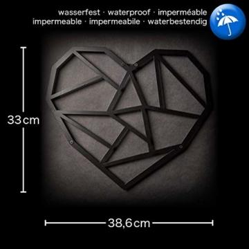 Hansmeier sculture e Parete in Metallo | Heart | 39x33cm | Decorazione per casa | Modernità e atemporalità (Heart) - 2