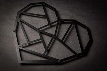 Hansmeier sculture e Parete in Metallo | Heart | 39x33cm | Decorazione per casa | Modernità e atemporalità (Heart) - 3