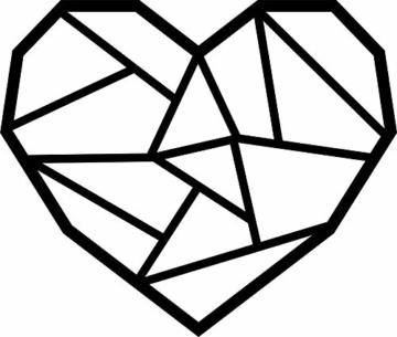 Hansmeier sculture e Parete in Metallo | Heart | 39x33cm | Decorazione per casa | Modernità e atemporalità (Heart) - 1