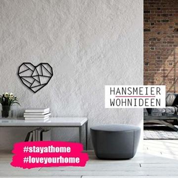 Hansmeier sculture e Parete in Metallo | Heart | 39x33cm | Decorazione per casa | Modernità e atemporalità (Heart) - 6