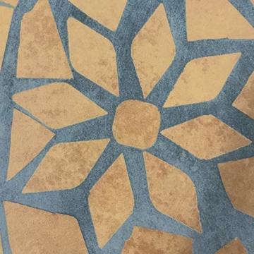 Jago Tavolo e Sedie Mosaico - Set Rotondo o Quadrato, 2 Sedie, in Ceramica, Struttura in Acciaio, Modello a Scelta - Set Mobili da Esterno, Giardino, Tavolino e Sedie da Balcone - 7