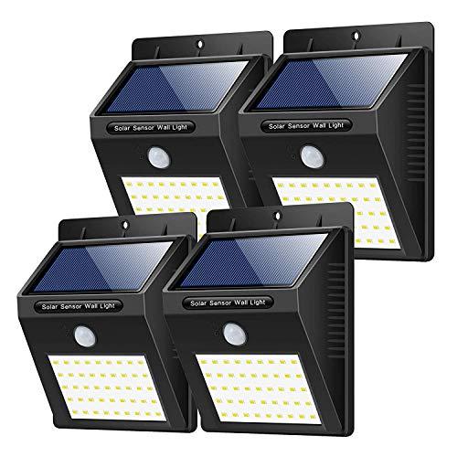 Luce Solare Led Esterno, 【180° Super Luminoso-4 Pezzi】Yacikos 40 LED Lampada Solare Esterno con Sensore di Movimento 1500 mAh Luci Esterno Energia Solare Impermeabile IP65 per Giardino,Parete - 1