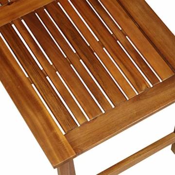 Outsunny Set 4 Mobili da Giardino Divano, 2 Poltrone e Tavolino Esterno Legno di Acacia - 6