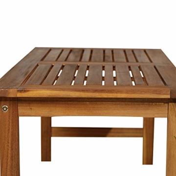 Outsunny Set 4 Mobili da Giardino Divano, 2 Poltrone e Tavolino Esterno Legno di Acacia - 9