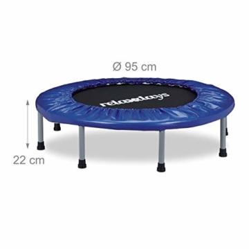 Relaxdays 10020801, Trampolino, Tappeto, Elastico E Pieghevole Unisex – Adulto, Blu, 22 x 95 x 95 cm - 4