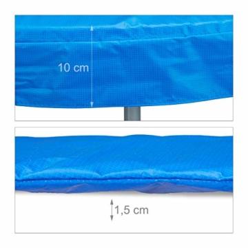 Relaxdays 10020822_655 Coprimolla per Tappeto Elastico, Accessori Trampolino, Larghezza 30 cm, PVC, Diametro 305, Blu - 3