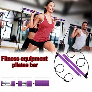 Risefit Yoga Pilates Stick Sport Attrezzature per Il Fitness Yoga per la casa Addome Multifunzionale Torace Espansore Braccio Estrattore Muscolare (Porpora) - 2