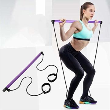 Risefit Yoga Pilates Stick Sport Attrezzature per Il Fitness Yoga per la casa Addome Multifunzionale Torace Espansore Braccio Estrattore Muscolare (Porpora) - 1