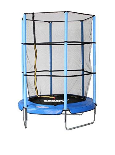 Sport1 Tappeto Elastico Diametro 140 cm/Rete di Protezione Altezza 150 cm con zip ingresso/Impermeabile resistente ai raggi UV/Struttura in Acciaio/Facile Montaggio/Made in USA - 1