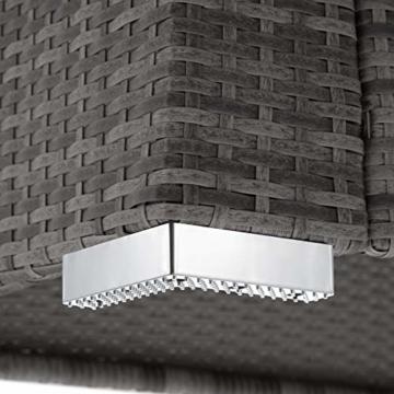 TecTake 403085 - Set di Mobili Rattan Alluminio Arredamento Giardino, 2 Set di Rivestimenti per Cusci, 4 Cuscini Extra, Viti in Acciaio Inox, Grigio - 8