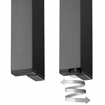 TecTake 800587 - Tavolo da Giardino, Robusta Intelaiatura in Alluminio, Pannelli dall'Effetto Legno - Disponibile in Diversi Colori (Nero | No. 402954) - 4