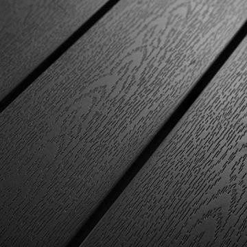 TecTake 800587 - Tavolo da Giardino, Robusta Intelaiatura in Alluminio, Pannelli dall'Effetto Legno - Disponibile in Diversi Colori (Nero | No. 402954) - 6