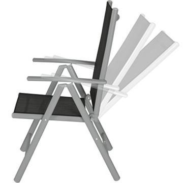 TecTake Set di alluminio sedie da giardino pieghevole con braccioli - disponibile in diversi colori e quantità - (Grigio chiaro | 2 sedie | no. 401631) - 3
