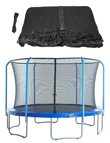 Upper Bounce - Rete di Sicurezza e Protezione di Ricambio per Trampolino Rotondo 4.27 m con 8 Poli Curvati e Anello Superiore (Poli e Anello Non Inclusi) - 1