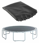 Upper Bounce Tappeto Elastico Professionale sostitutivo | Compatibile con telai da 244 m con 60 a V | Utilizzare Molle da 19 cm | Rimbalzo Perfetto, Resistente all'Acqua e ai Raggi UV - 1