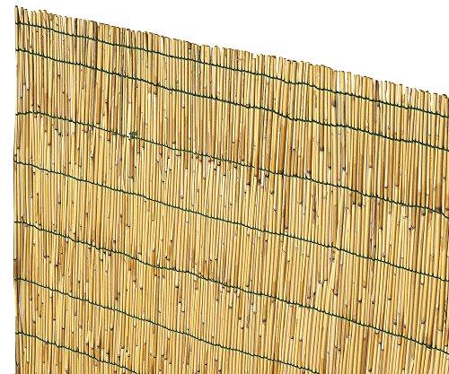 VERDELOOK Arella Cina in cannette Bamboo pelato, 2x3 m, bambù per recinzioni e Decorazioni - 1