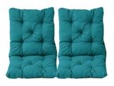 Ambientehome–Set di 2Cuscini Seduta e Schienale per Sedia Hanko, Circa 50x 98x 8cm, Imbottito - 1