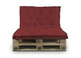 BIANCHERIAWEB Cuscino Mattonella per Seduta-Schienale Divani Pallet Cuscino per Bancale 80x120 80x120 Bordeaux - 1