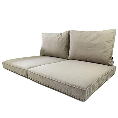 Cuscini per Pallet da Esterno Nordje Comfort Duo con FO-dera Impermeabile, composti da Cuscino Seduta da 120x80 cm e Cuscino Schienale   Cuscini per Pallet   Cu-scino per bancali (Talpa) - 1