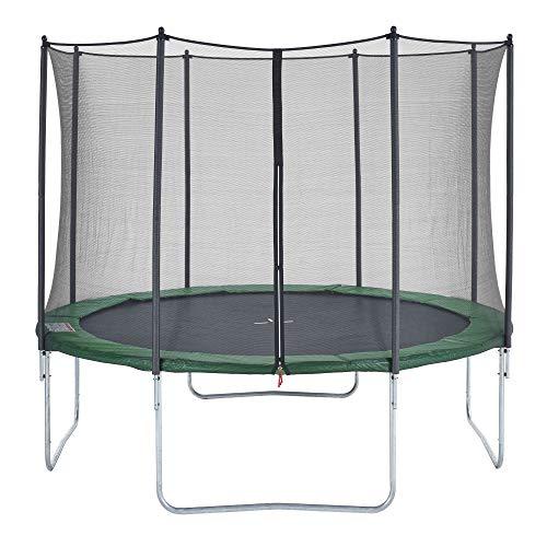 CZON SPORTS trampolino, 430 cm tappeto elastico con rete di sicurezza, verde|trampolino elastico da giardino|trampolino bambini - 1