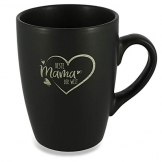 Donari Tazza in porcellana nera opaca con incisione, con confezione regalo esclusiva, idea regalo per mamma, regalo per mamma, mamma, mamma, mamma e mamma. - 1