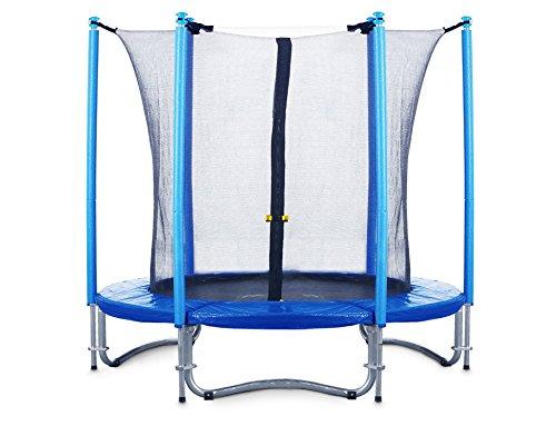FA Sports Flyjump Monster Garden-Trampolino, Blu - blu 2, 244 cm - 1