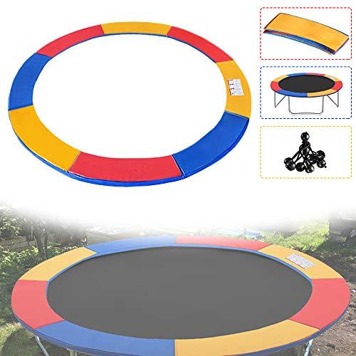 Froadp Ø244cm Telo di Copertura Imbottita Bordo Protezione per Trampolino Elastico Resistente agli Strappi und UV Antistrappo Multicolore - 1