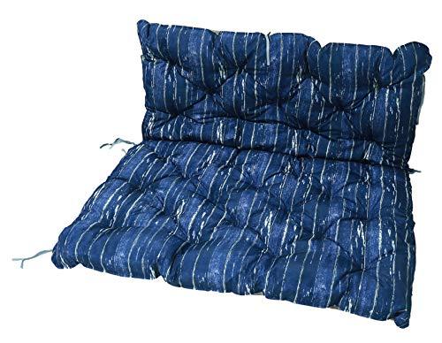 Homecall, cuscino da giardino, colore blu / marrone - 1
