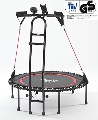 """JOKA FIT - Trampolino """"Cacau"""" per fitness con tappeto elastico, contagiri e bande di resistenza - 1"""