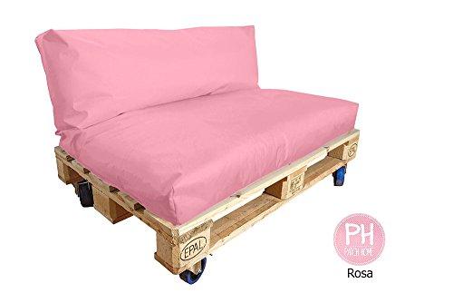 Patchhome - Set di imbottitura e cuscini per pallet, vari Colori e dimensioni - 1